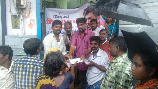 Vishal Fans Helps Popole Who Attacked By Rain07
