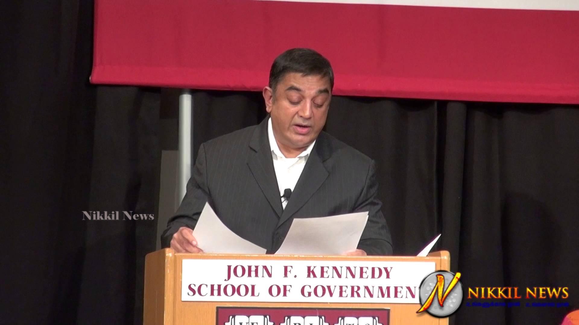 Kamal Haasan Speech at Harvard Kennedy School Student Conference Video