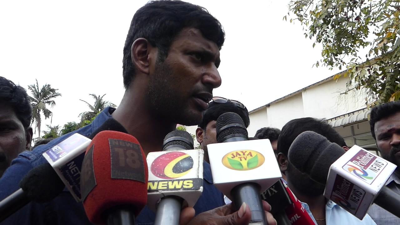 """Mudinja RK Nagar La Kooda Ninurpan""-Vishal"