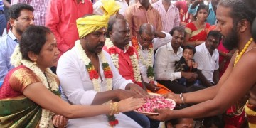 Raghava Lawrence Open Temple for His Living Mother Photos015