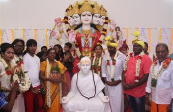 Raghava Lawrence Open Temple for His Living Mother Photos027