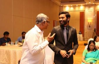 Riaz with Dhanush